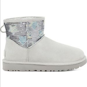 Gray ugg with sequin stars